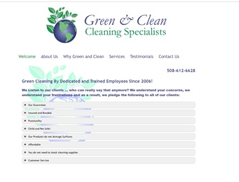 green and clean website link